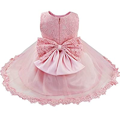 FEESHOW Baby Girl Lace Flower Princess Wedding Party Pageant Birthday Tutu Dress