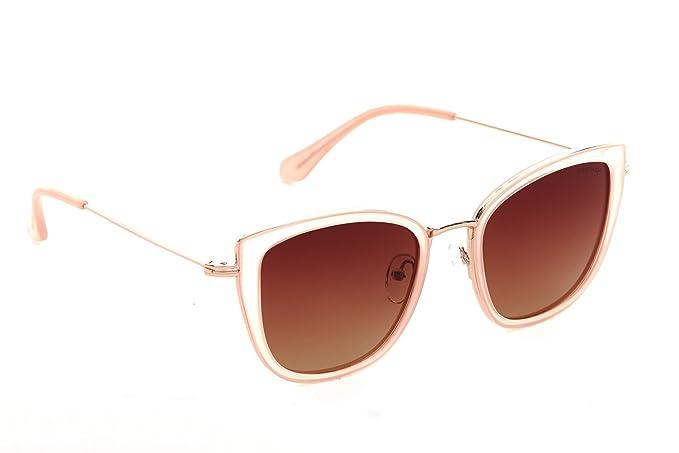 b4dbe28f9c Despada, Made in Italy Cat Eye Polarized Lens Metal Frame Ladies Sun  Glasses (Blush