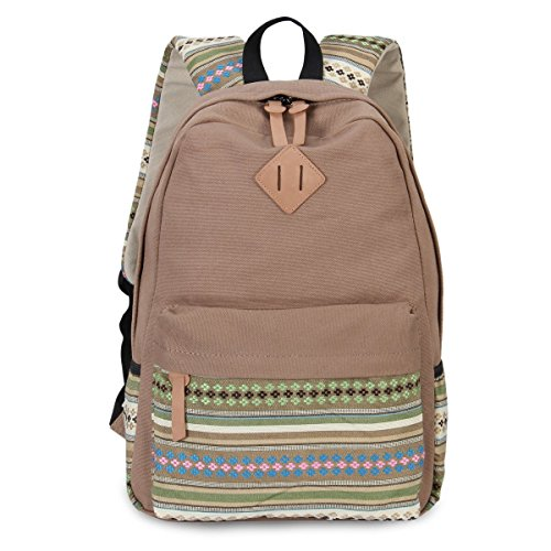 TRONG Men and Women Large Capacity Casual Travel Lightweight Canvas unisex School  Backpack 15 Inch Laptop 9b6ffbeaccd8f