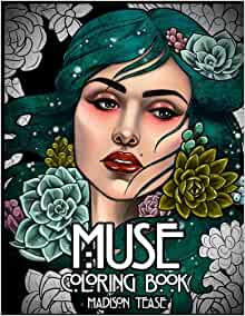 Muse coloring collection portraits florals product image
