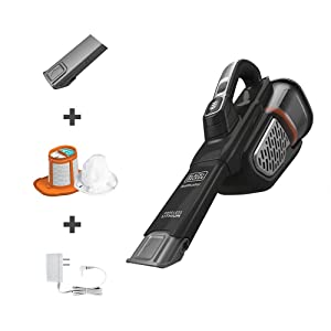 BLACK+DECKER dustbuster Handheld Vacuum, Cordless, AdvancedClean+ , Black (HHVK515J00FF)