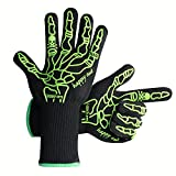 "BasicForm Heat-resistant Barbecue Gloves 13"" Long Extra Protection Luminous in Dark"
