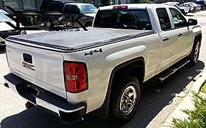 Premium Soft Tri-Fold Tonneau Pickup Truck Cover (Fits 1988 - 2019 Chevrolet/GMC Silverado/Sierra 1500 2500HD 3500HD Denali HD 6.5 Feet (78.9 Inches / 2.0 Metres) Standard Bed Box Size - Non-Stepside Models)