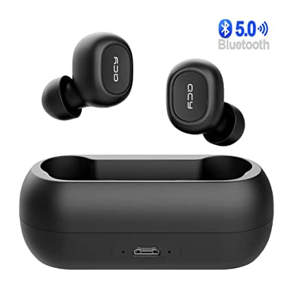 QCY True TWS Wireless Earphones Bluetooth 5.0 Mini in-Ear Earbud Headphones with Charging Case
