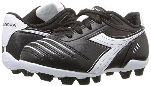 Diadora Kids' Cattura MD Jr Soccer Shoe, Black/White, 11 M US Little Kid by Diadora (Image #6)