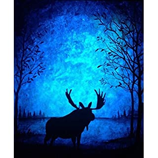 Sky Blue Glow in The Dark Paint - Premium Artist's Acrylic - 4 Fluid Ounces - Daytime Invisible