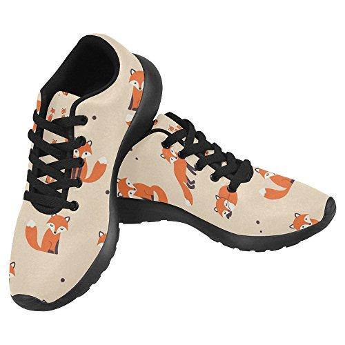 official photos 4f563 851fe Interestprint Kvinna Jogging Kör Sneaker Lättvikts Gå Gång Casual Komfort  Sports Löparskor Gullig Tecknad Rävar Multi