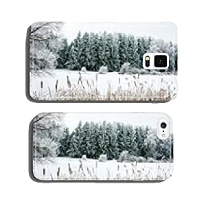 Winter Landscape with Snow and Trees cell phone cover case Samsung S6