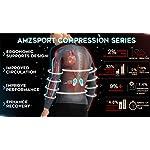 AMZSPORT-Calzamaglia-per-Compressione-Sportiva-da-Uomo-Asciugatura-Veloce-Livello-Base-Gambale-Pantaloni-da-Allenamento-PRO