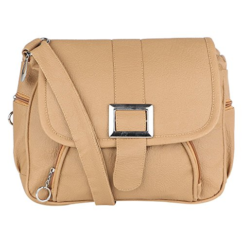 SAHAL FASHION PU Sling Bag for Women (Beige)