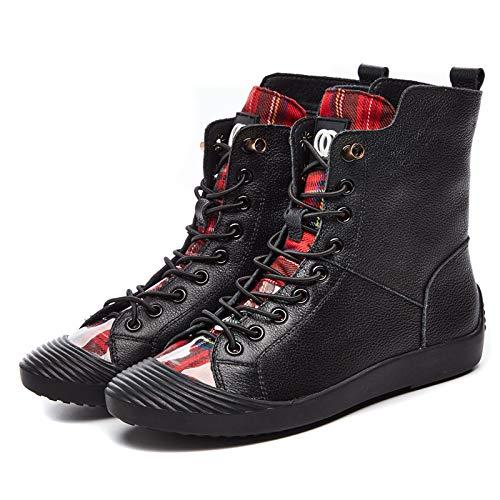 HOESCZS Frauen Schuhe Herbst Frauen Schuhe Flachen Flachen Flachen Boden Strap High Zu Helfen Casual Shell Kopf Wild Board Schuhe Student Stiefel 0f8773