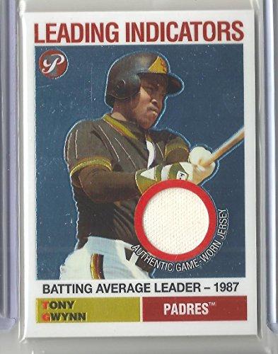 2005 Topps Pristine Baseball Tony Gwynn Leading Indicators Game Worn Jersey Card