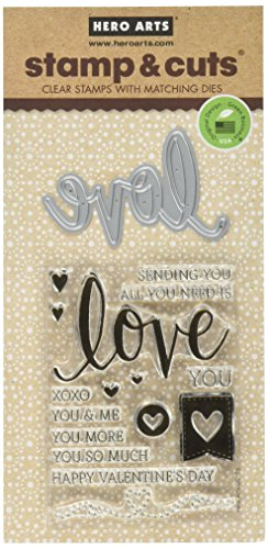 Hero Arts DC175 Love Stamp and Cut Craft Supplies