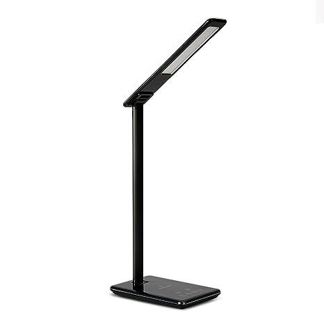 Cargador inalámbrico Qi Xinxin-star, lámpara de escritorio Lámpara de carga inalámbrica con puerto de carga USB, control táctil, 4 modos de color, luz ...