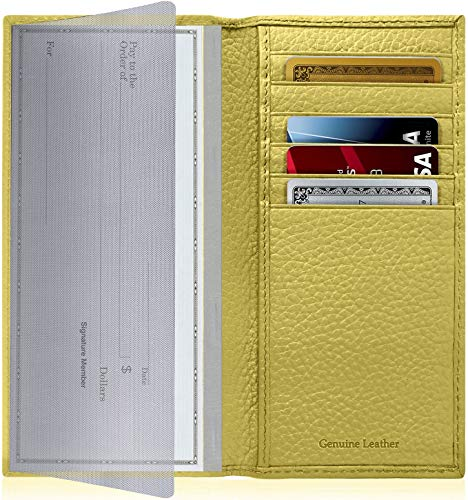 kbook Cover For Women & Men - Checkbook Holder Check Book Covers For Duplicate Checks Card Wallet RFID ()
