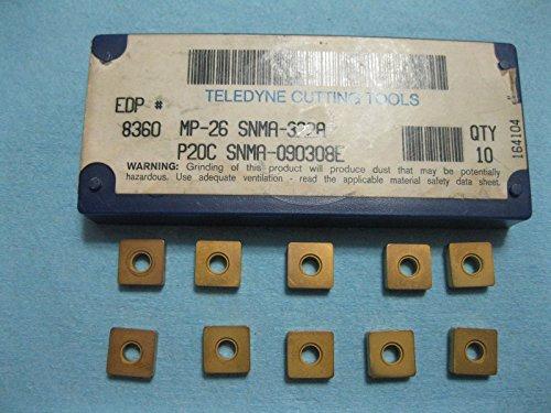 (10 PCS MP 26 SNMA 322A P20C SNMA 09030 8E TELEDYNE CARBIDE INSERTS EDP# 8360)