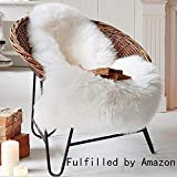 Faux Fur Sheepskin Style Rug 75 x 120 cm Faux Fleece Chair Cover Seat Pad Anti-Skid Yoga Carpet for Living Room Bedroom Sofa Floor