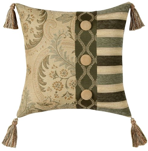 Jennifer Taylor Contessa Collection Pillow, 18-Inch by 18-Inch