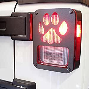"Amazon.com: Xprite Tail Light Cover Guard "" Dog Paw "" for"
