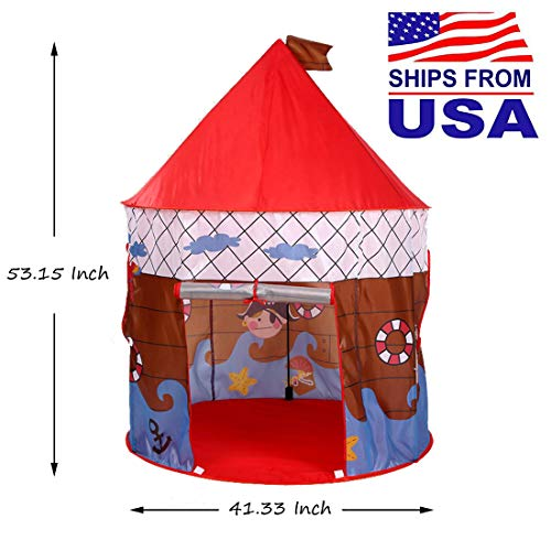 Pawstail Play Tent Castle for Kids Boys / Girls Indoor / Outdoor Fun Neatly (B)