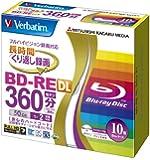 三菱化学メディア Verbatim BD-RE DL (ハードコート仕様) くり返し録画用 50GB 1-2倍速 10枚 5mmケース ワイド印刷対応(ホワイト) VBE260NP10V1