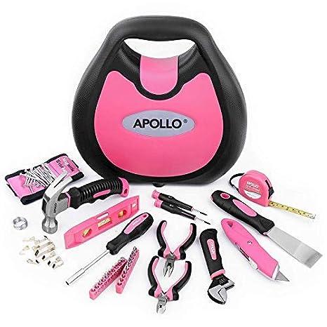 Apollo 71 Juego de presupuesto Juego de herramientas en rosa Incluye pulsera magnético para superstarken Imanes para mantener de tornillos, clavos, ...