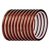 uxcell 10Pcs Heat Resistant Insulation Polyimide Film Adhesive Tape 33 Meters Length x 4mm Width