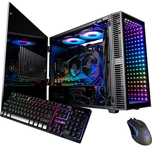 CUK Continuum Mini Gaming PC (Liquid Cooled Intel Core i9-9900K, NVIDIA GeForce RTX 2080 Ti, 32GB RAM, 1TB NVMe SSD + 1TB SSD, 650W Gold PSU, Z390I Motherboard) Tiny RGB Desktop Computer for Gamers