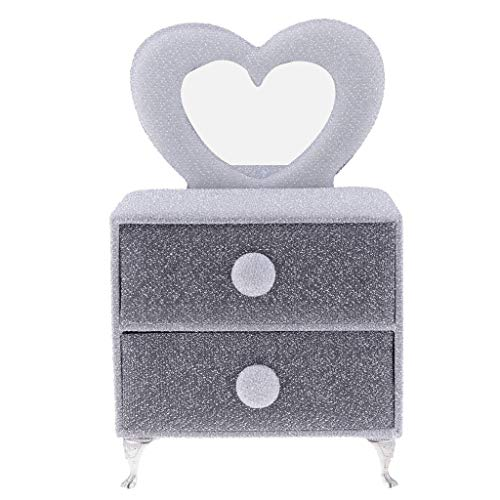6th Scale Dolllouse Bedroom Miniature Furniture Silver Dressing Table Model ()
