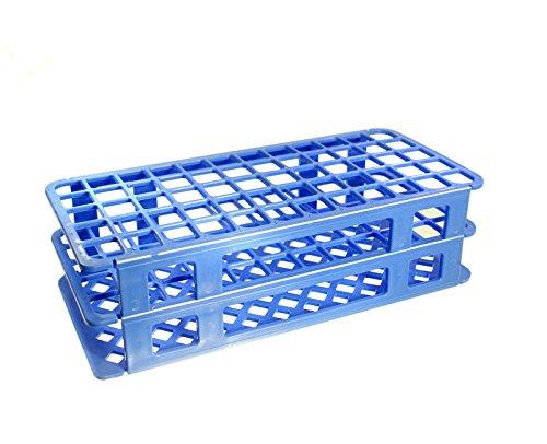 (KeL Scientfic KS-802 60 Hole 16 mm Blue Plastic Test Tube Rack Polypropylene, Blue)