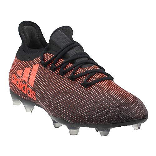 adidas Men's X 17.2 FG Soccer Shoe, Black Red/Solar Orange,