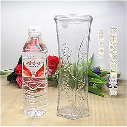 ZHFC-Bamboo Bamboo florero botella de vidrio transparente de la hoja nueva decoracion Decoracion hidroponico