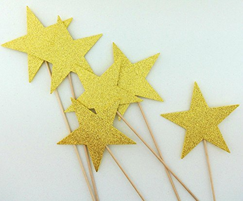 Stars Photo Booth Props Center Pieces Magic Wands 6 ()