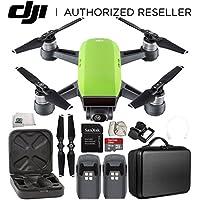 DJI Spark Portable Mini Drone Quadcopter Essential Portable Bag Shoulder Travel Case Bundle (Meadow Green)