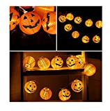 MOKAO Happy 2017 Family Party Decoration Halloween Pumpkin New LED,10 LED String Lights Halloween Decoration Lights Warm white Club Bar Lights (Yellow)