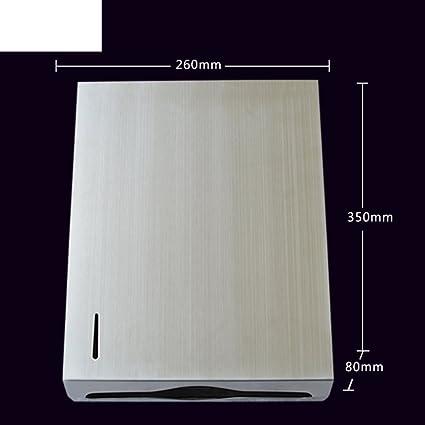 MOMO Bandeja de Toallas de Mano de Acero Inoxidable Grueso/Caja de Papel higiénico de