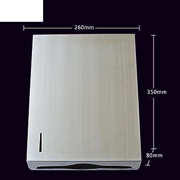 MOMO Bandeja de Toallas de Mano de Acero Inoxidable Grueso/Caja de Papel higiénico de Pared/Bandeja de Inodoro/Dispensador de toallitas de Mano-A: ...