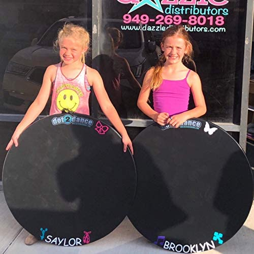 dot2dance Personalized 32 inch Authentic Black Marley Portable Dance Floor, Multi-Use with Gym Mat Back - Size GRANDE-32x32x1