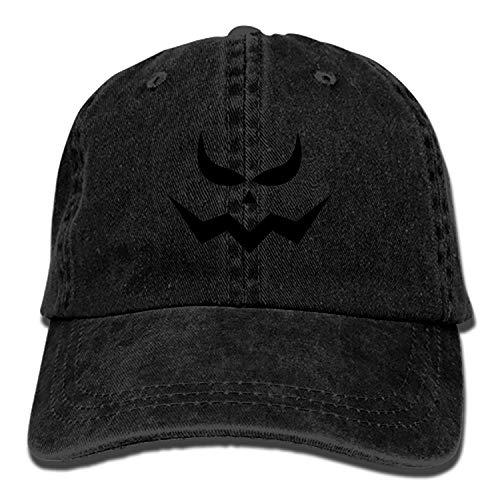 PILLO Scary Halloween Denim Baseball Caps Hat Adjustable Cot