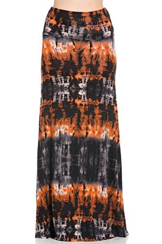 plus size tie dye maxi skirt - 7