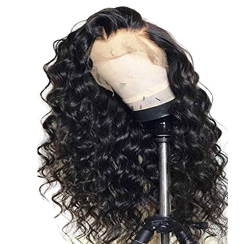 360 Lace Front Human Hair Wigs For Women Pre Plucked Malaysian Deep Wave Wig With Baby Hair 10-24 Inch Remy Hair Wigs HCDIVA,Natural Color,16 inch from Tata Trend