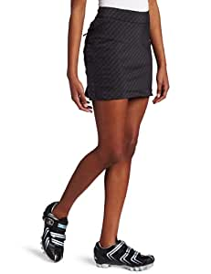 Zoic Women's Damsel Cycling Skirt Plus RPL Liner (Black Plaid, X-Small)