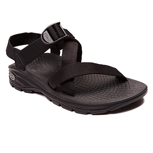 (Chaco Men's Zvolv Casual Sandals, Black Polyester, 14 M )