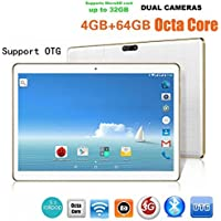 Freshzone 10.1Inch MTK6592 Octa-Core 4G + 64G Android 6.0 Dual Sim Dual Camera Phone Pad Wifi Phablet Tablet PC