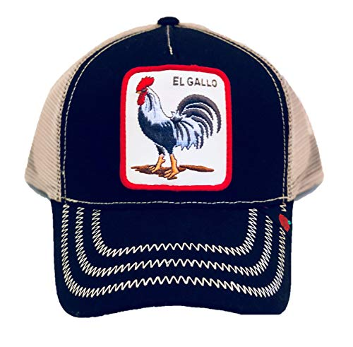 DLR El Gallo Trucker Hat Cap - Black -
