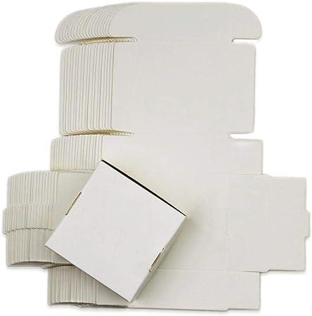 Caja de Papel Kraft de 54 tamaños, Color Blanco y Negro, Caja de cartón para Regalo, Caja de jabón para Joyas, Dulces, Paquete de Papel de Embalaje, Caja pequeña, Blanco, 13.5x10x1.5cm: Amazon.es: