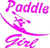 Paddle Like a Girl Kayaker Vinyl Decal Sticker Pink Kayak Kayaking Ocean Canoe