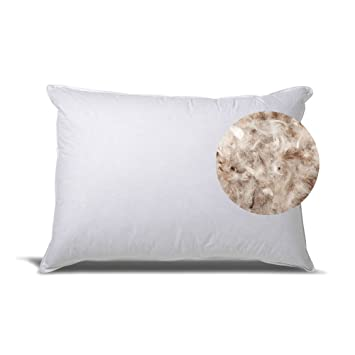 down and feather standard bed pillows with cotton casing