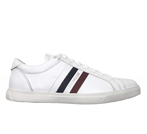 Moncler Sneakers Scarpe Uomo in Pelle Modello LA Monaco Bianco ... 8d33e776749