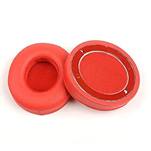 OKCSC Replacement Earpad Ear Pad Cushions Cups Ear Cover for Solo 2 Red